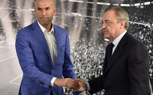 Real Madrid's new French coach Zinedine
